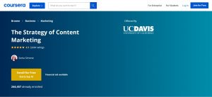 The Strategy of Content Marketing của Coursera