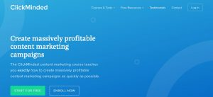 Khóa học của ClickMinded về Create massively profitable content marketing campaigns